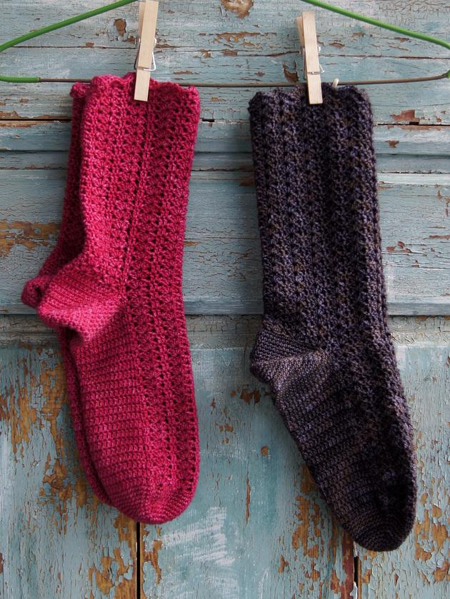 Virkattuja sukkia