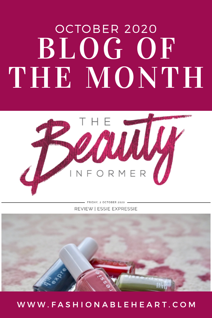 bblogger, bbloggers, bbloggerca, canadian beauty bloggers, bbloggersca, beauty blog, london blogger, blog of the month, featured blogger, the beauty informer, fashionable heart, lifestyle blog