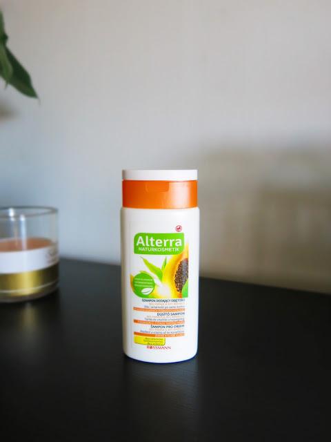 Alterra - Bio papaja, Bio bambus - szampon do włosów dodający objętości.