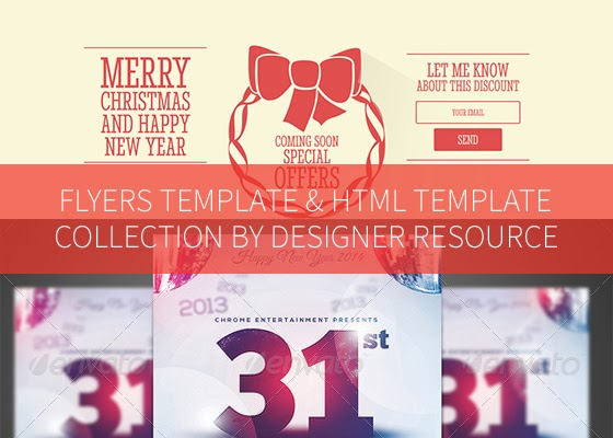 40+ Flyers and HTML Templates