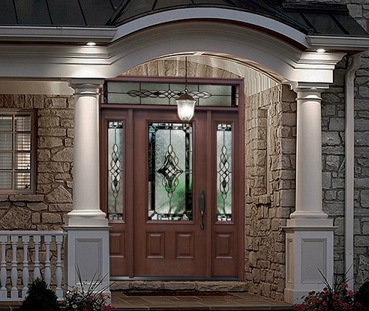 Entry Doors With Sidelights: Fiberglass Entry Doors With