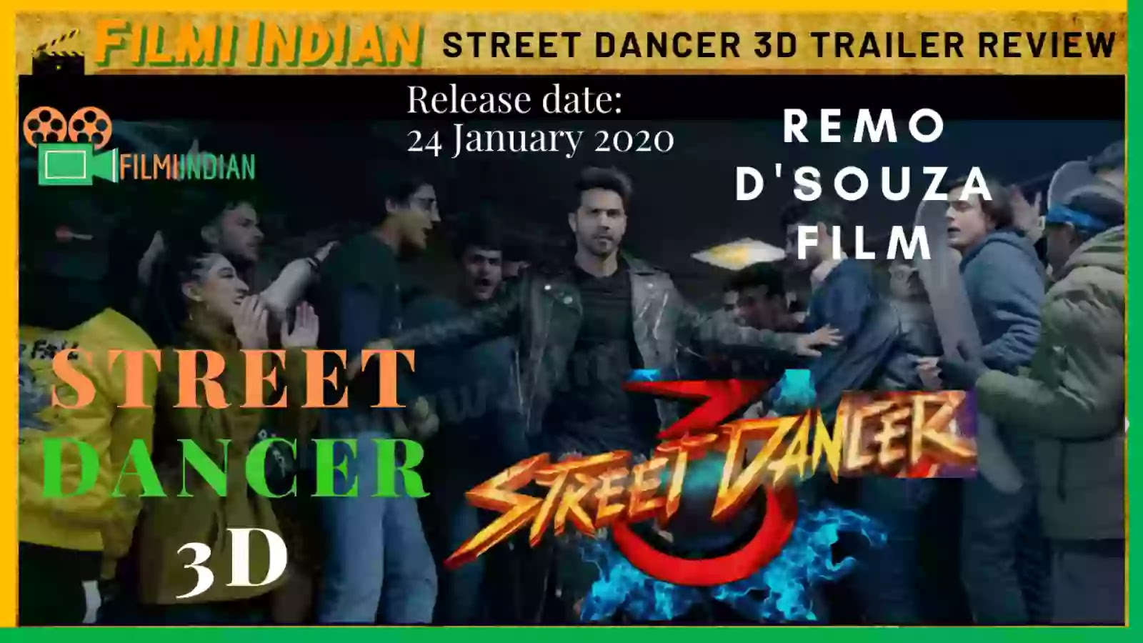 Street Dancer : 3D (2020) Movie Trailer : Best and Honest Review