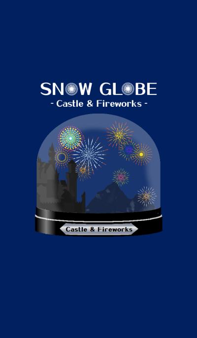 Snow Globe –Castle & Fireworks-