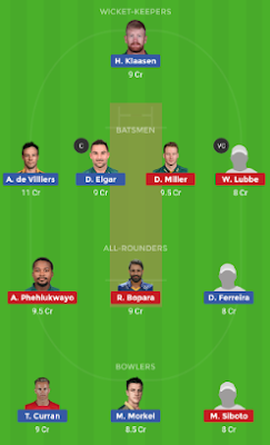 DUR vs TST dream 11 team | TST vs DUR