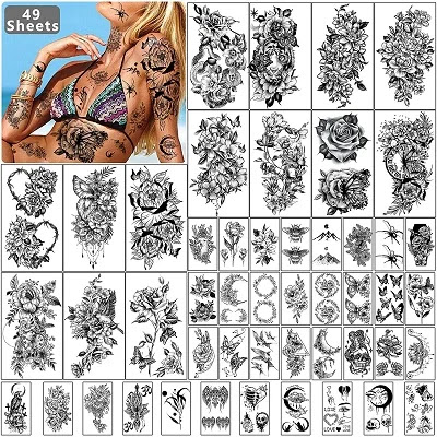Flowers Women Waterproof Temporary Tattoo