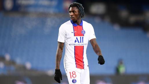 Moise Kean in action for PSG