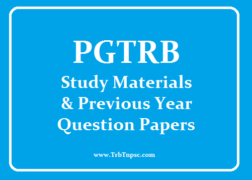PG TRB - QUESTIONS AND STUDY MATERIALS ~ TRB TNPSC