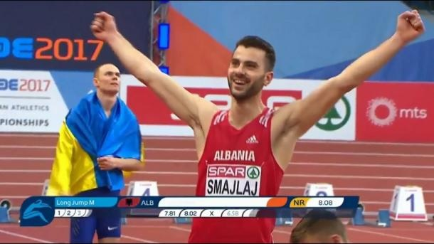 Izmir Smajlaj sets new Albania's national record in the long jump