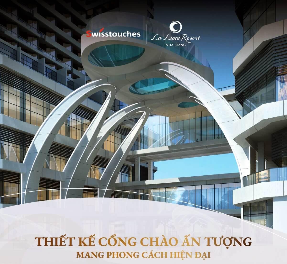 Thiết kế cổng chào ấn tượng chỉ có tại La Luna Resort