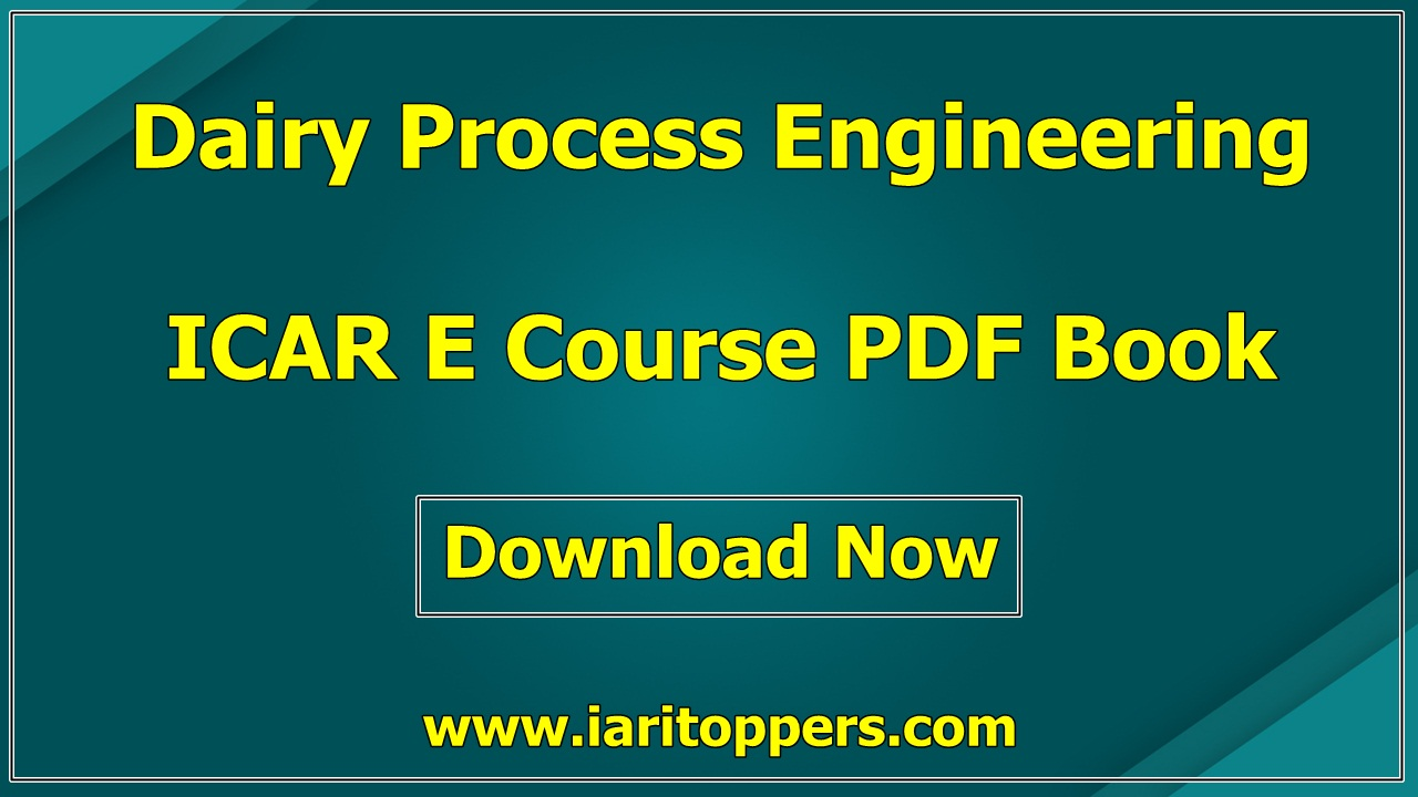 Dairy Process Engineering ICAR e course PDF Download E Krishi Shiksha