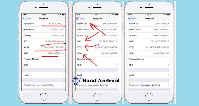 Cek IMEI iPhone dari Pengaturan