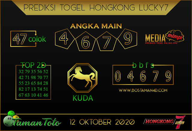 Prediksi Togel HONGKONG LUCKY 7 TAMAN TOTO 12 OKTOBER 2020