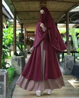 19 Model Baju Gamis Syar I Pesta Mewah Tapi Elegan Terbaru