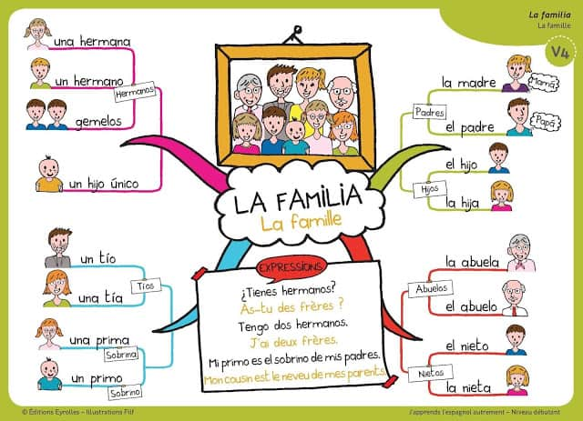 Mapa mental sobre la familia