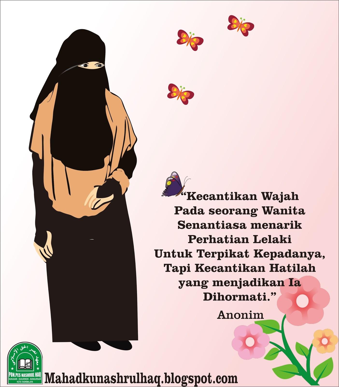 Gambar Kartun Muslimah Yang Ada Kata Katanya   Keajaiban Kata Kata