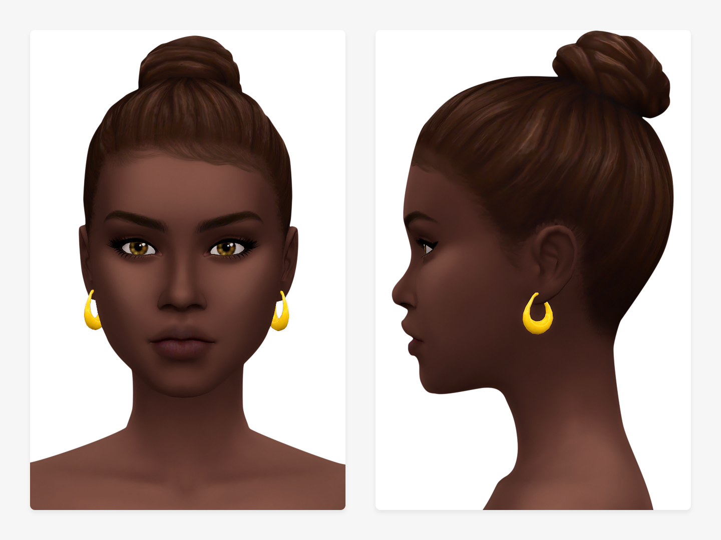 Délice Earrings Sims 4 CC Accessories