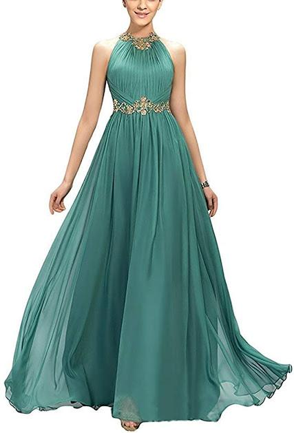 Luxury Designer Turquoise Chiffon Bridesmaid Dresses