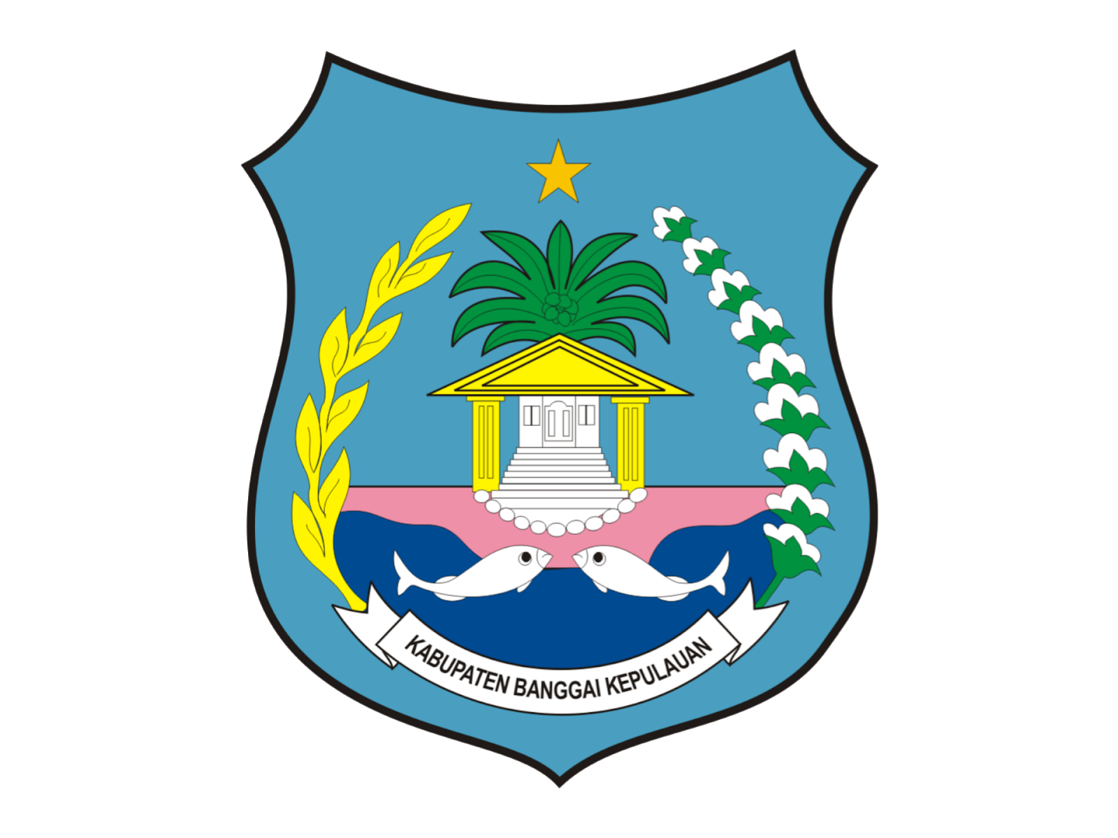 Logo Kabupaten Banggai Kepulauan Format PNG