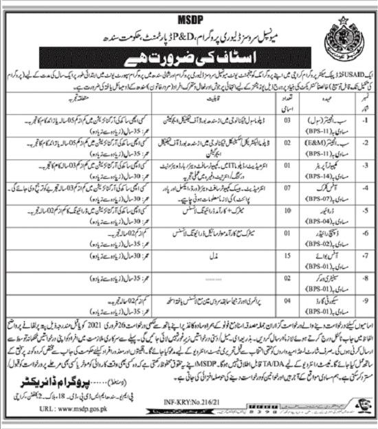 planning-and-development-sindh-jobs-2021-advertisement-application-form