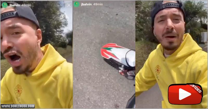 J Balvin rompe la cuarentena para dar un paseo por la ciudad sin tapaboca
