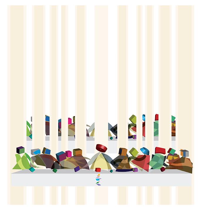 The Last Supper, by Jim Keaton ©Structured Art 2021, Gardner keaton Inc.