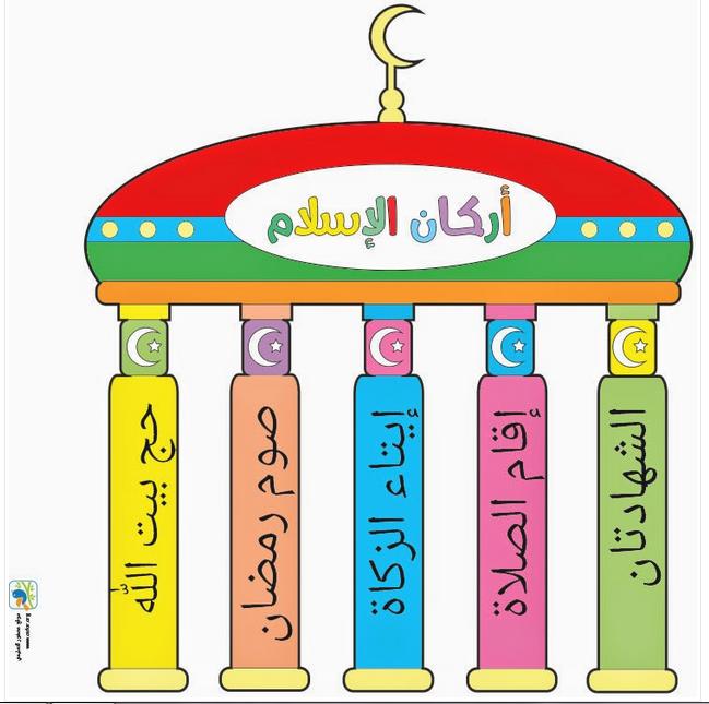 مدونة كتب التعليم الابتدائي: ملصق أركان الاسلام للتلوين