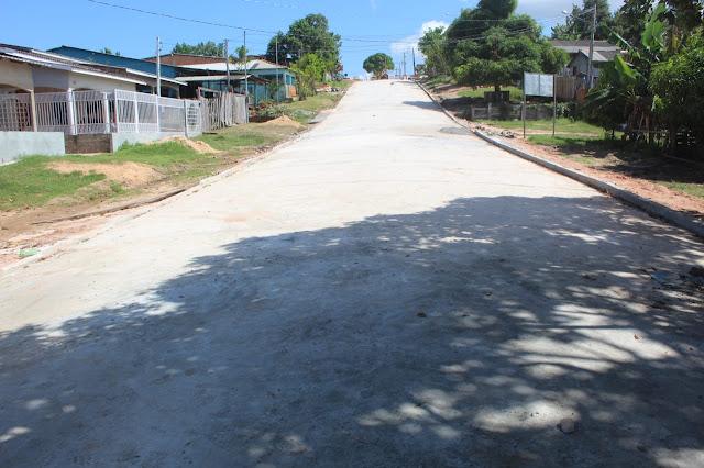 Prefeitura de Óbidos conclui a pavimentação da rua Pedro Álvares Cabral em Óbidos