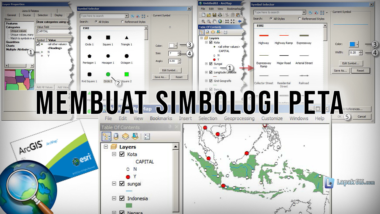 Cara Membuat Simbologi Peta pada Arcgis