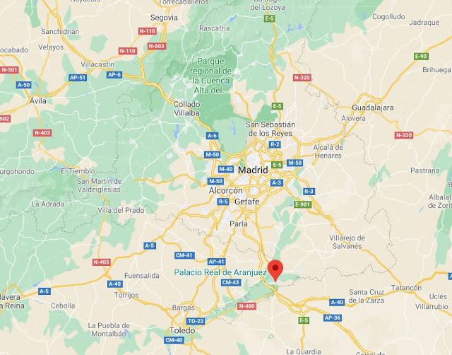localización de Aranjuez en Madrid