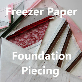 Freezer Paper Foundation Piecing tutorial by QuiltFabrication