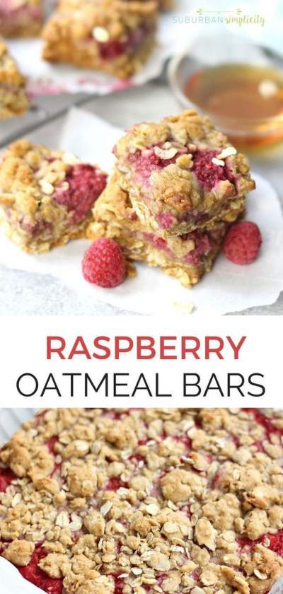 Easy Raspberry Oatmeal Bars