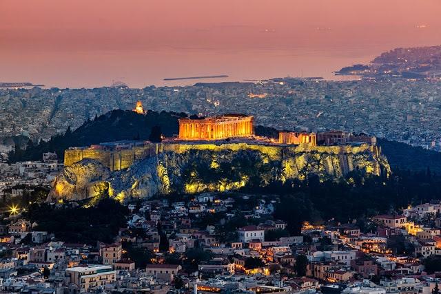منظر علوي لمدينة أثينا