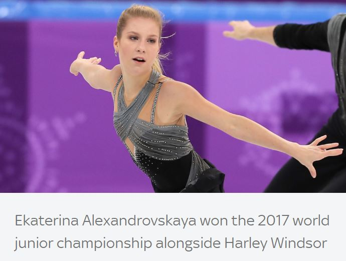 The 20-year-old Olympic figure skater Ekaterina Alexandrovskaya, who died in Moscow, was honored.