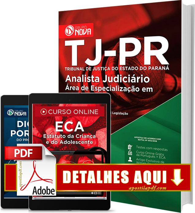Apostila TJ PR 2016 PDF Impressa Analista Judiciário Psicologia