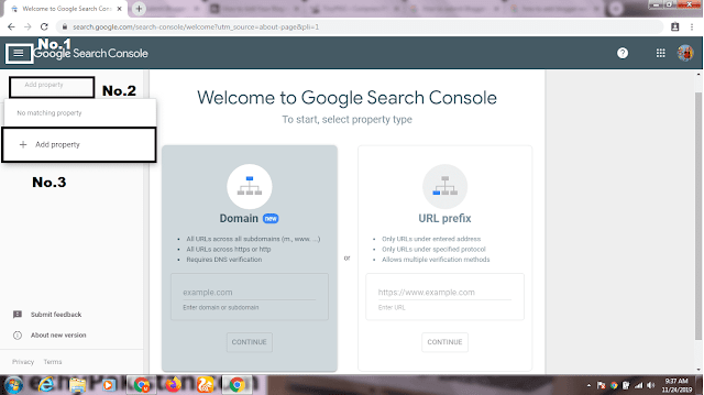 How to Add Blogger Website in Google Search Console