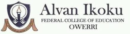 Alvan Ikoku Federal College of Education (AIFCE) Registration details 2019/2020