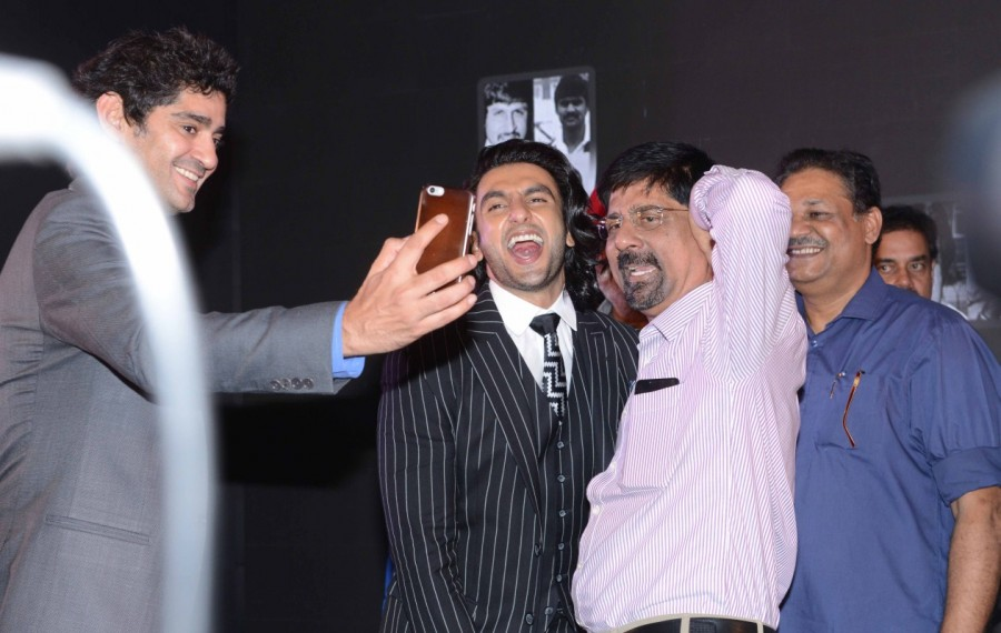 Kapil Dev, Ranveer Singh and Srikkanth at 83 Movie Launch