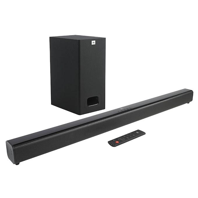 Soundbar JBL Cinema SB130 com 2.1 Canais, Bluetooth, Subwoofer Com Fio e Dolby Digital - 55W