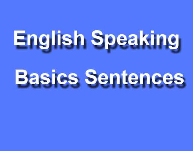 English Speaking Basics Sentences