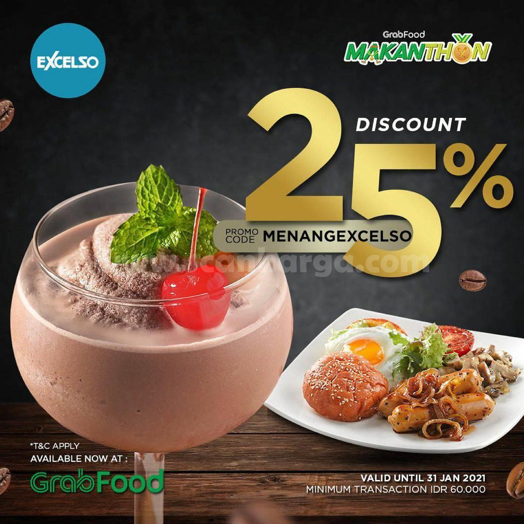 EXCELSO Spesial Promo GRABFOOD MAKANTHON – Diskon 25%