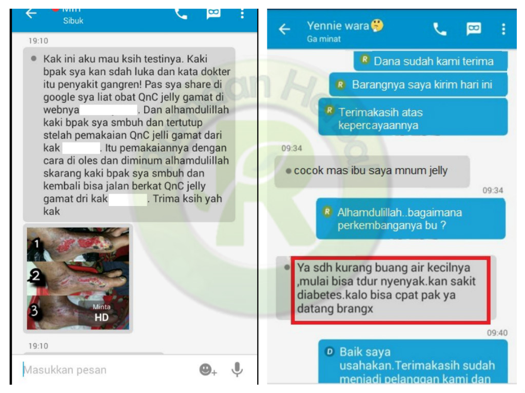 Testimoni Qnc Jelly Gamat Diabetes