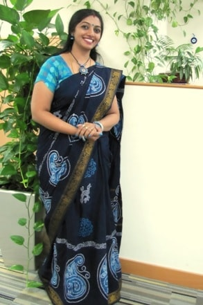 Beautiful women with Madurai sungudi sarees