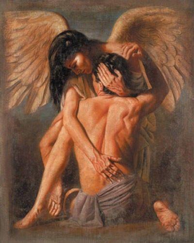 love angel guardian, lovers embrace, angel love women, love poetry, romantic poem, angels ove love