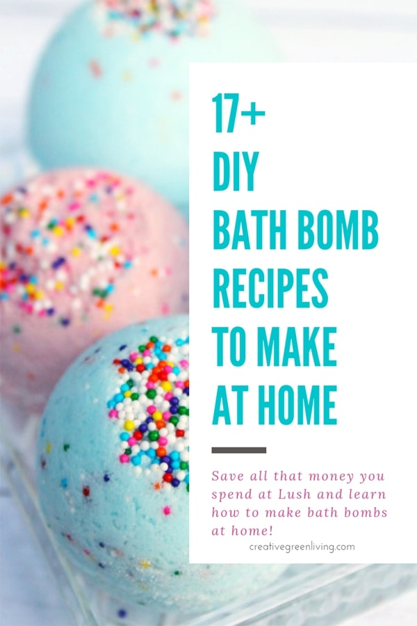 17+ DIY bath bomb recipes to make at home.Save all that money you spend at Lush and learn how to make bath bombs at home!