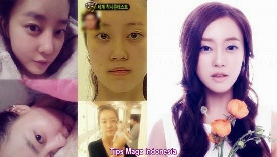 artis korea Woori - Rainbow tanpa memakai makeup