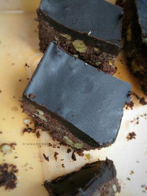 resepi coklat cake bar sedap