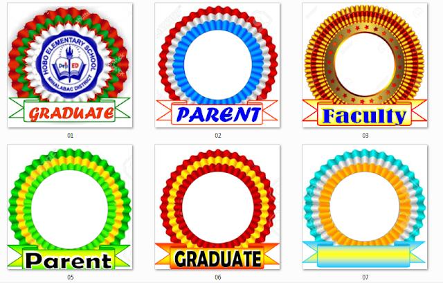Graduation Ribbons   New Grad Program Template  DepEd LP's