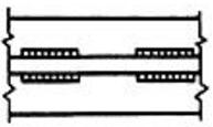 Двухсторонний прерывистый шов, у которого промежутки расположены по обеим сторонам стенки один против другого