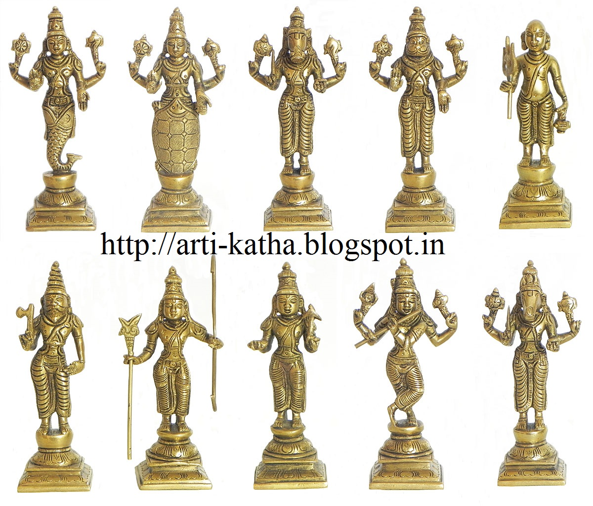 God Vishnu 10 Avatars