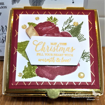 Gold mini pizza boxes, Christmastime is here, Christmas, gift boxes, 2019 Holiday Catalogue, #loveitchopit